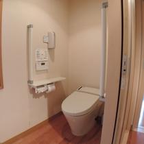 新館檜風呂付客室:バリアフリートイレ