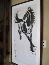 秋の馬 絵画