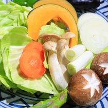 *【炉端焼(野菜)】自家農園で作る旬の野菜の味をお楽しみください。