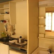 ・客室はキッチン完備!