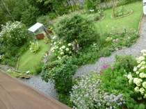 客室からの眺め(西側)8月