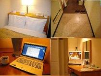 ■客室:全室高速有線LANが接続無料!