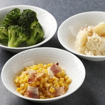朝食バイキング〜コーン・ブロッコリー