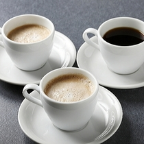 朝食バイキング〜コーヒーは数種からお選びいただけます