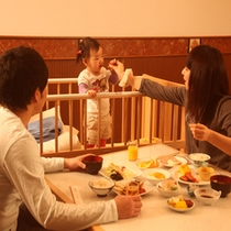 お子様連れでも安心♪してお食事が楽しめます。