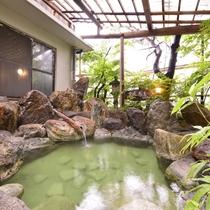 ◎温泉(露天風呂)一例/広くはございませんが、阿賀野川からの川風を感じながらお寛ぎください。