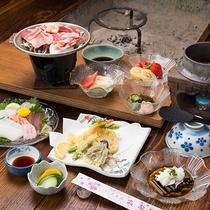 *夕食一例(シニアプラン)/牛料理と元祖釜めしを、通常より割引してご提供します