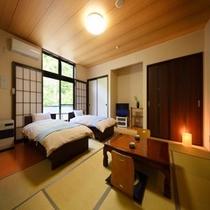 【 新館 和洋室 ツインベッド+8畳タイプ】移動が少ないお部屋