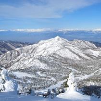 *冬の雪山