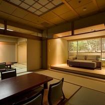 【星の林】庭園露天風呂(ジャグジー)付客室(2間)お部屋