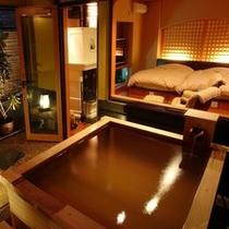【花梨】特別室/半露天風呂