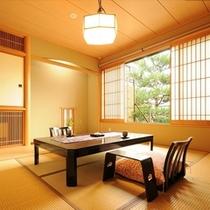 【薊】和室8畳/2名1室利用時。1名様21,850〜になります。 半露天付き客室