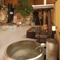 【花くらべ】陶器風呂