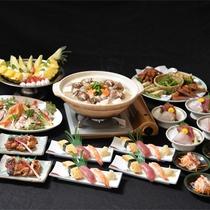 *宴会コース【お鍋一例】生姜豆乳鍋 おいしいお食事を宴会で大盛り上がり♪