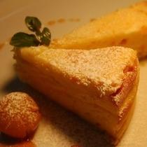 【デザート】マスカルポーネとクリームのチーズケーキ&ガレットシャランティーズ