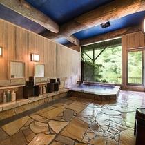 *【大浴場】昔から湯治場として利用され、ph10.2の高アルカリ泉はお肌にもやさしい鉱泉です。