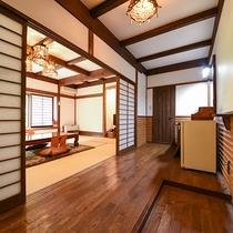 *【客室一例(1階ぶな)】お部屋はそれぞれ異なったデザイン。ごゆっくりどうぞ。