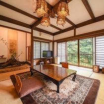 *【客室一例(1階しらかば)】ゆったり広々とした和室一間の客室となります。