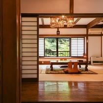 *【客室一例(1階ぶな)】1部屋ごとに異なる造り、古民家ならではの素朴さなど、どうぞお楽しみください