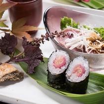 *【ご夕食一例(先付)】新鮮な旬のお野菜を嵯峨塩館らしい楽しみ方でご用意いたします。