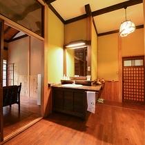 *【客室一例(2階しゃくなげ)】お部屋は1室ごとに異なる造りとなっております。