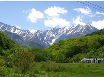 Wizから車で5分!夏の鹿島槍ケ岳の眺望