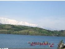 青木湖カヌー