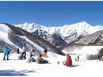 絶景!冬の鹿島槍スキー場