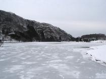 中綱湖の氷結