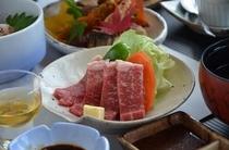 赤牛のステーキ一例