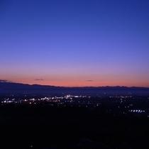 上空から眺める会津の夜景