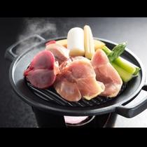 三島町産会津地鶏の鉄板焼き