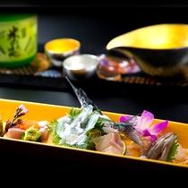 富山湾直送のお造里と美味しい日本酒