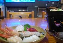 お刺身と鍋