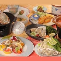 牡蠣づくしのご夕食のイメージです