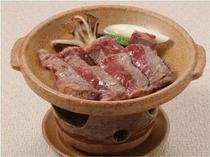 牛の陶板焼き