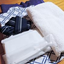 *【アメニティ一例】浴衣、タオル、歯ブラシ