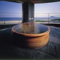 お風呂【十六夜】信楽焼露天風呂