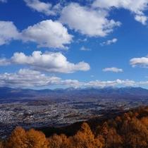 *【杖突峠】秋の眺望(当館より車で約30分)