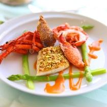 *【洋食一例】旬の食材や自家菜園で栽培した食材が彩ります(イメージ)