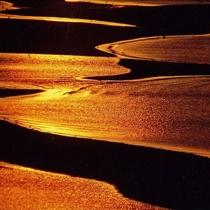 新舞子浜の干潟(ブロンズ)