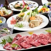すき焼き膳(一例)