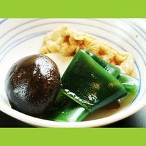 季節の野菜の煮しめは優しい味です☆