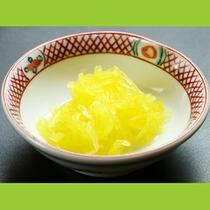 香の物に使用している野菜も自家栽培です☆