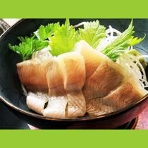 新鮮な岩魚のお刺身
