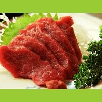 会津の郷土食・馬刺しをお楽しみください