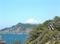 黄金崎からの富士山