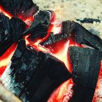 本格炭火の囲炉裏