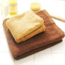日帰り入浴もバスタオル&フェイスタオルを無料で貸し出ししております。