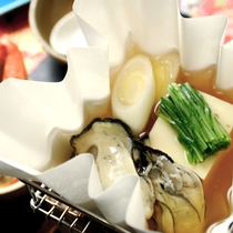 本格会席の牡蠣